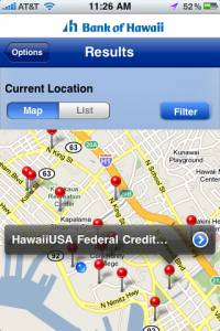 Bank of Hawaii iPhone App