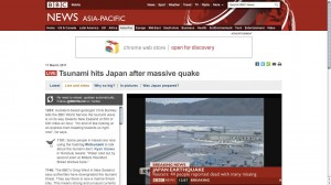 Social Media and Tsunami Reporting