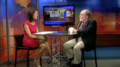 Mahealani Richardson and Gov. Neil Abercrombie on KITV