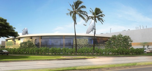 Architect rendering of the planned Clarence T.C. Ching Campus for PBS Hawaii.